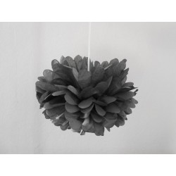 pompon gris anthracite