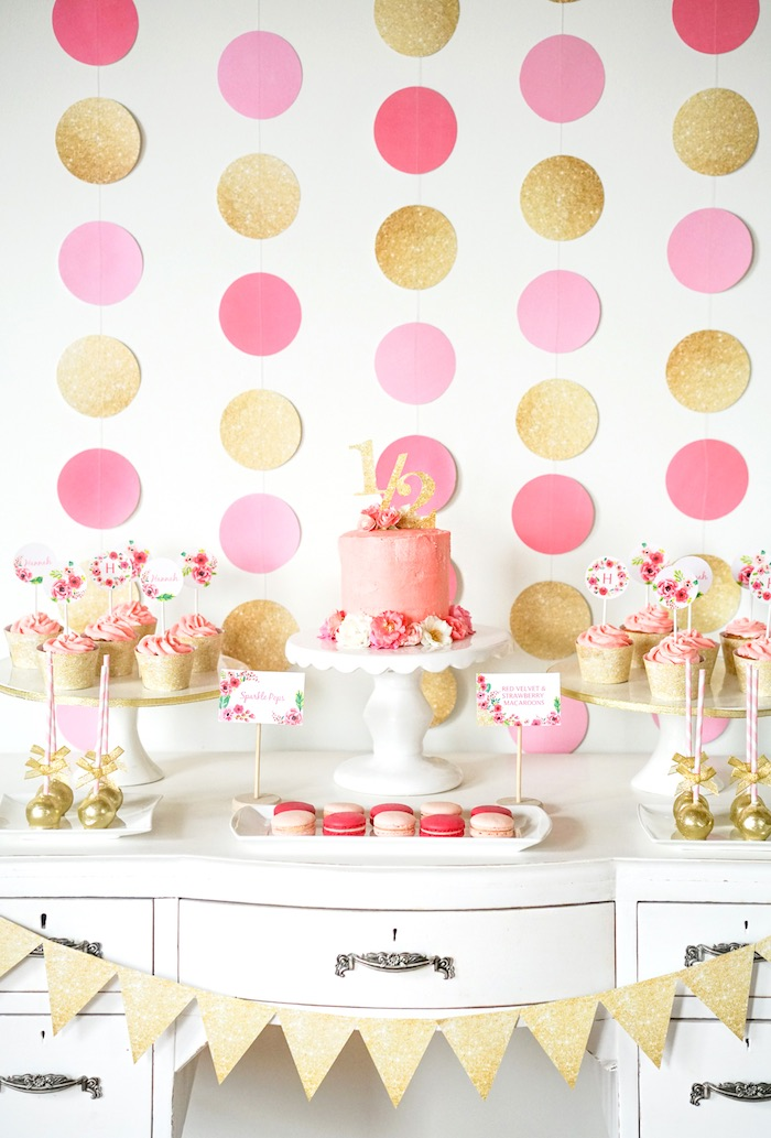 mariage rose pale doré rose