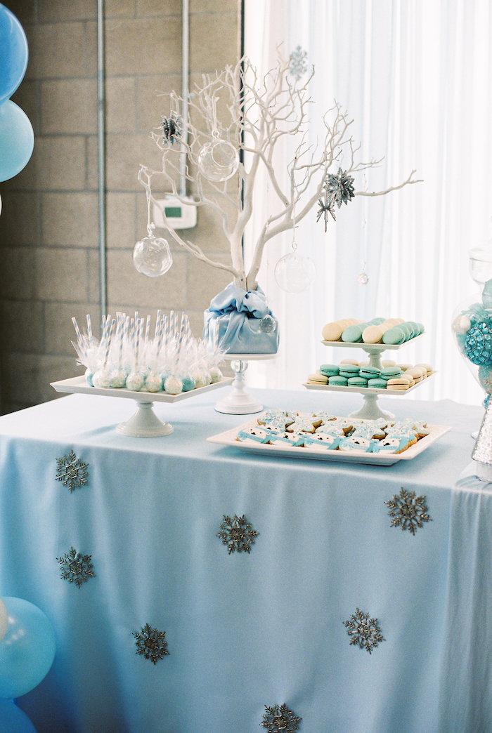 decoration bleu pale