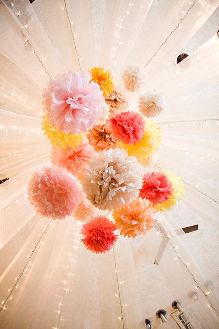 pompon décoration mariage