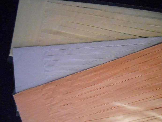tassel peche blanc ivoire