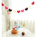 Guirlande 16 petits coeur