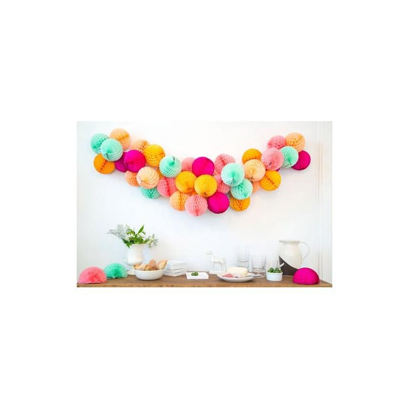acheter boule papier alv ol e rose 25 cm sur hello pompon. Black Bedroom Furniture Sets. Home Design Ideas