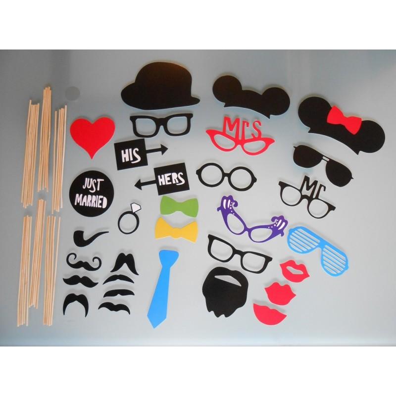 Favori Acheter Pack de 31 accessoires photobooth mariage sur Hello-Pompon CD67