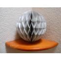 Boule papier alvéolée grise 25 cm