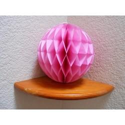 Boule papier alvéolée rose 25 cm