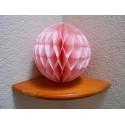 Boule papier alvéolée rose doux 25 cm