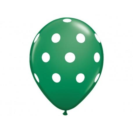 Lot de 2 ballons à pois vert