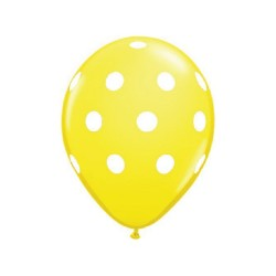 Lot de 2 ballons à pois jaune