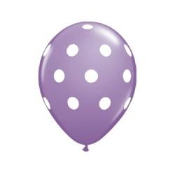Lot de 2 ballons à pois violet lila