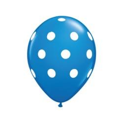 ballon à pois bleu