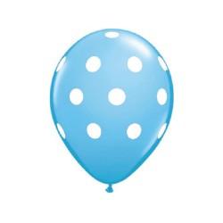 ballon à pois bleu doux