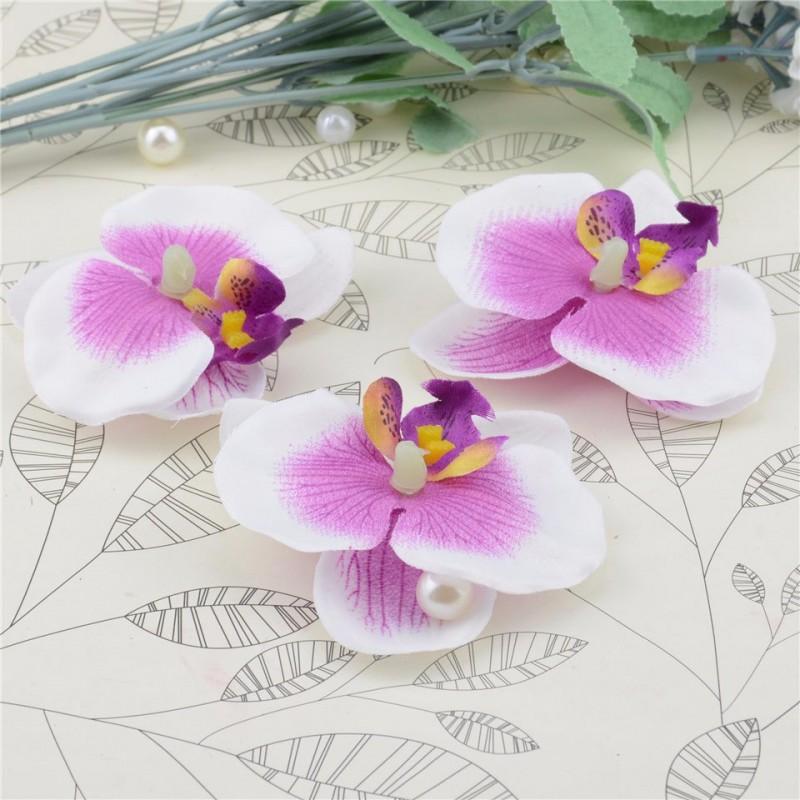 acheter 10 fleurs orchid es artificielles violet doux sur. Black Bedroom Furniture Sets. Home Design Ideas