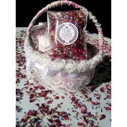 Confetti fleur mariage couronne laurier