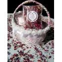 Confetti fleurs séchées modèle couronne laurier