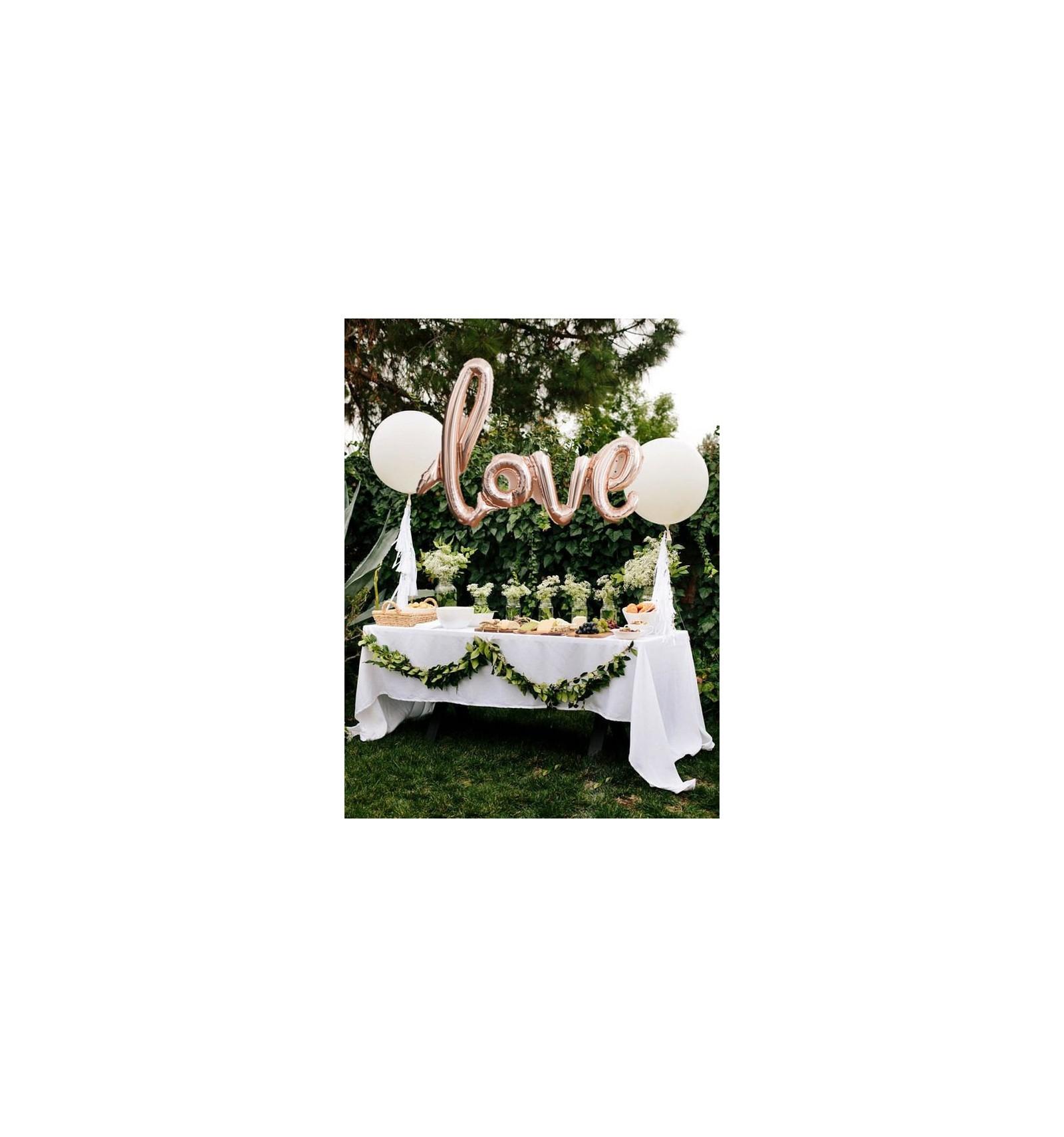acheter votre ballon love rose champagne sur hello pompon. Black Bedroom Furniture Sets. Home Design Ideas