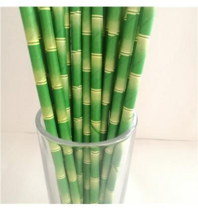Pailles en papier bamboo