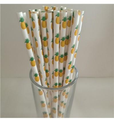 Pailles en papier ananas