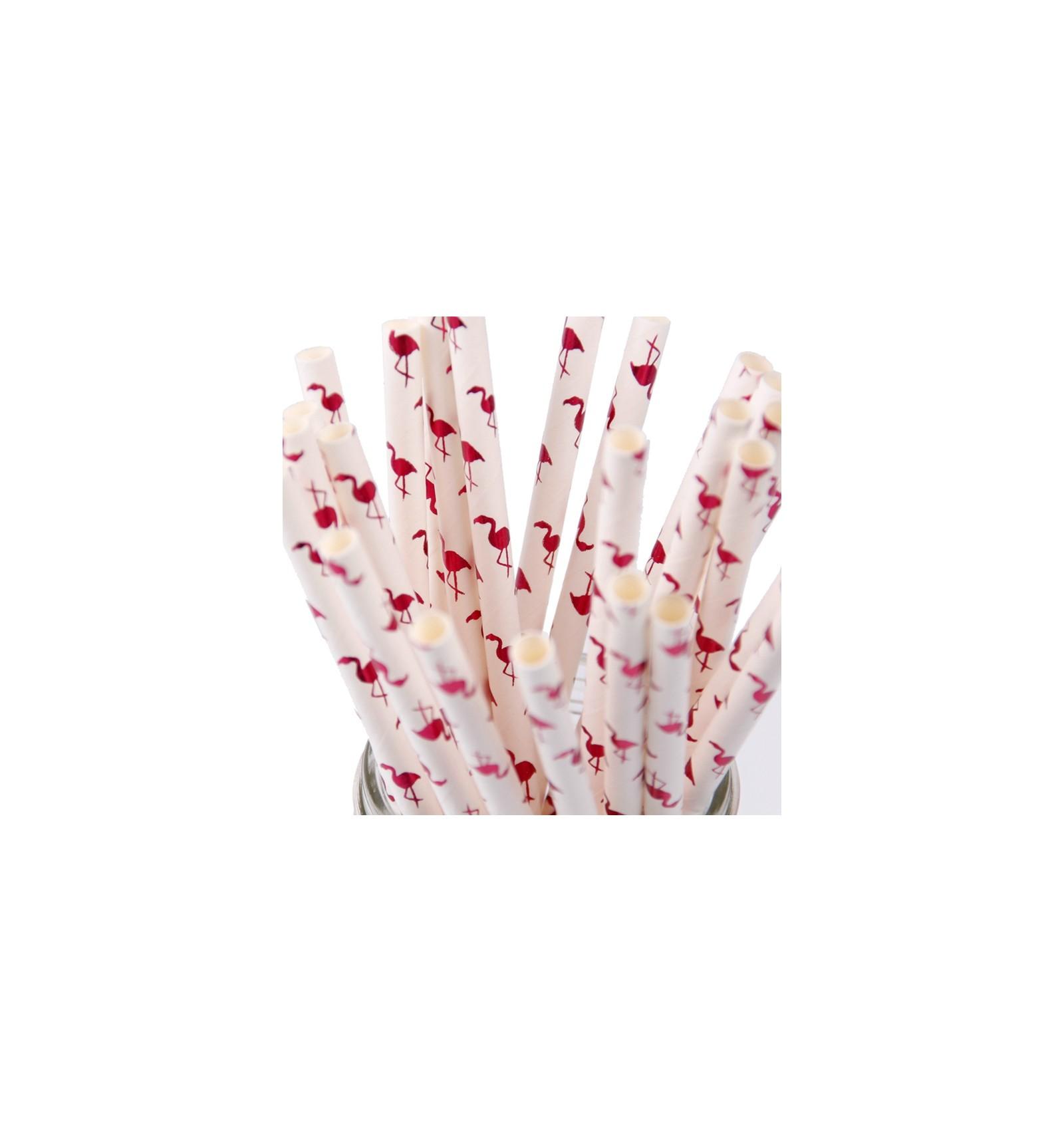 acheter pailles en papier flamant rose sur hello pompon. Black Bedroom Furniture Sets. Home Design Ideas