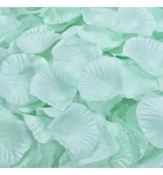 100 pétales de rose artificielle vert anis
