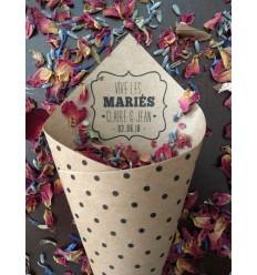 cornets fleurs séchées confettis