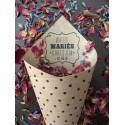 20 cornets fleurs séchées vive les maries
