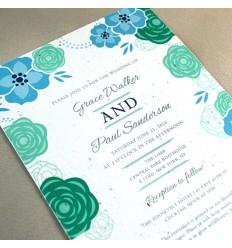 Faire-part mariage fleuri