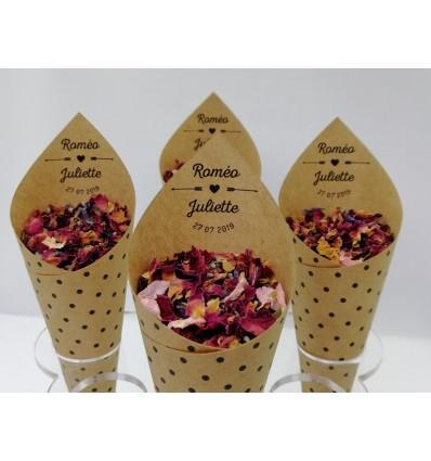 cornets fleurs séchées roméo juliette