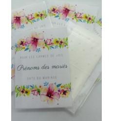 Mouchoirs larmes de joie modèle fleurs