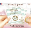 animation mariage tombola ticket à gratter