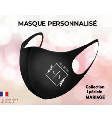Masque personnalisable mariage protection visage
