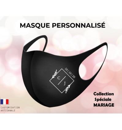 Masque personnalisable mariage protection visage