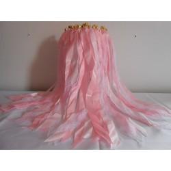 Lot de 10 Baguettes à ruban rose doux