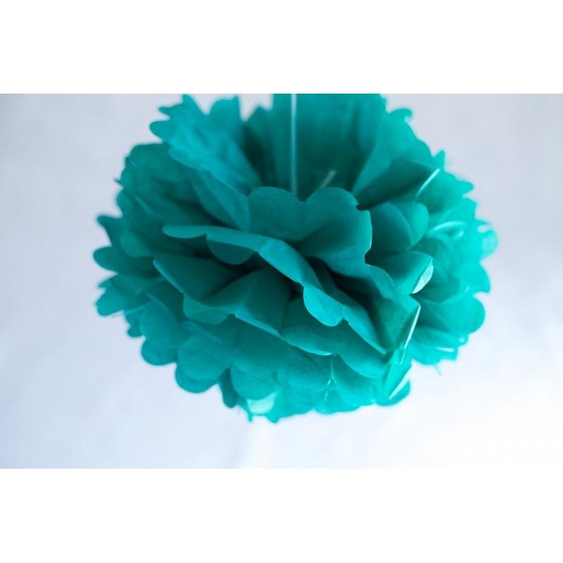 Acheter pompon papier vert meraude 25 cm sur hello pompon - Vert emeraude couleur ...