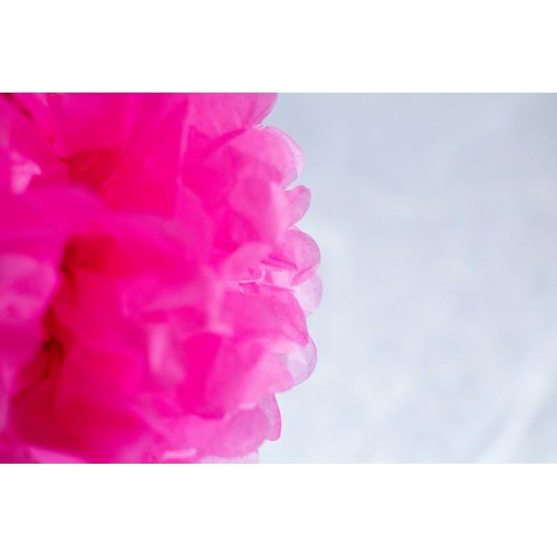 acheter pompon papier rose 25 cm sur hello pompon. Black Bedroom Furniture Sets. Home Design Ideas