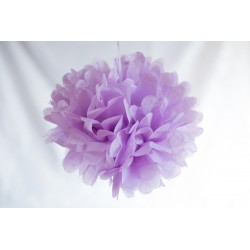 Pompon papier lila 25 cm