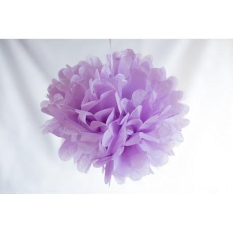 pompon papier lila
