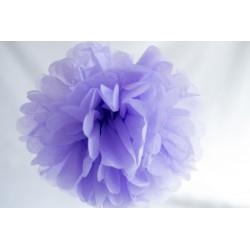 Pompon papier violet lavande 25 cm
