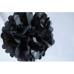 pompon papier noir