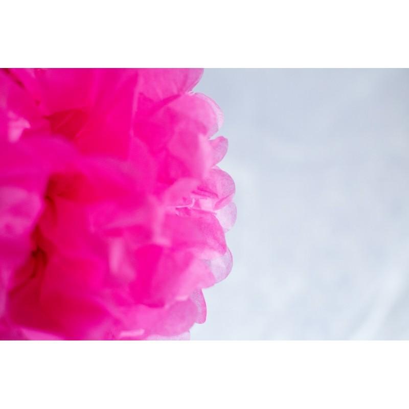 acheter pompon papier rose 30 cm sur hello pompon. Black Bedroom Furniture Sets. Home Design Ideas