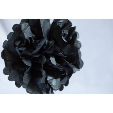pompon noir 30cm