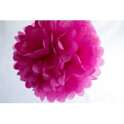 Très grand Pompon fleur fushia 38 cm