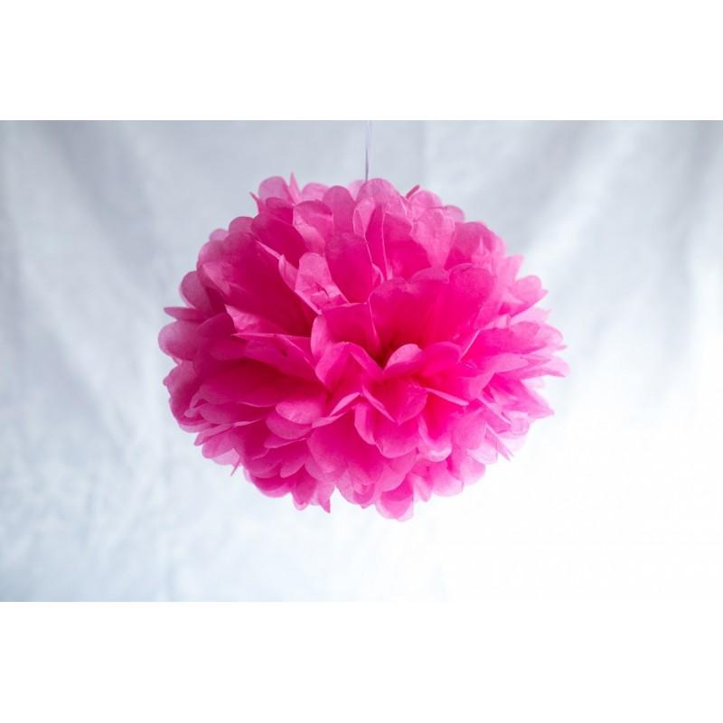 acheter mini pompon en papier rose 15 cm sur hello pompon. Black Bedroom Furniture Sets. Home Design Ideas