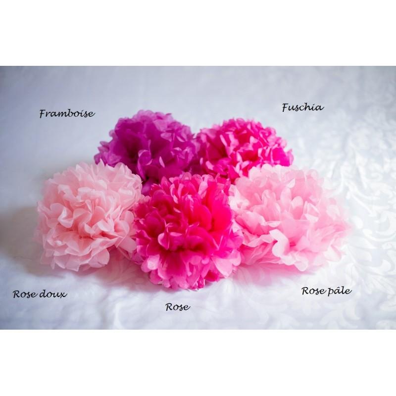 acheter pompon papier rose fushia 25 cm sur hello pompon. Black Bedroom Furniture Sets. Home Design Ideas