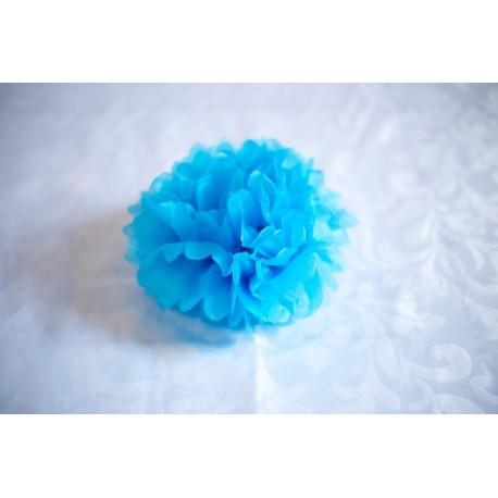pompon bleu 30 cm