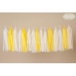 Guirlande tassel blanc, jaune, ivoire