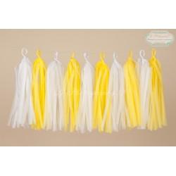 guirlande tassel blanc et jaune