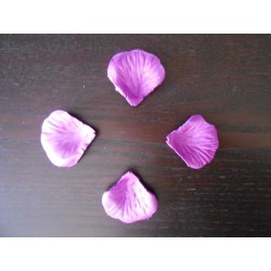 100 pétales de rose artificielle Violette