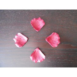 100 pétales de rose artificielle Rouge Foncé