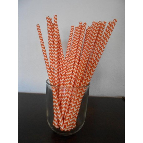 pailles chevrons orange